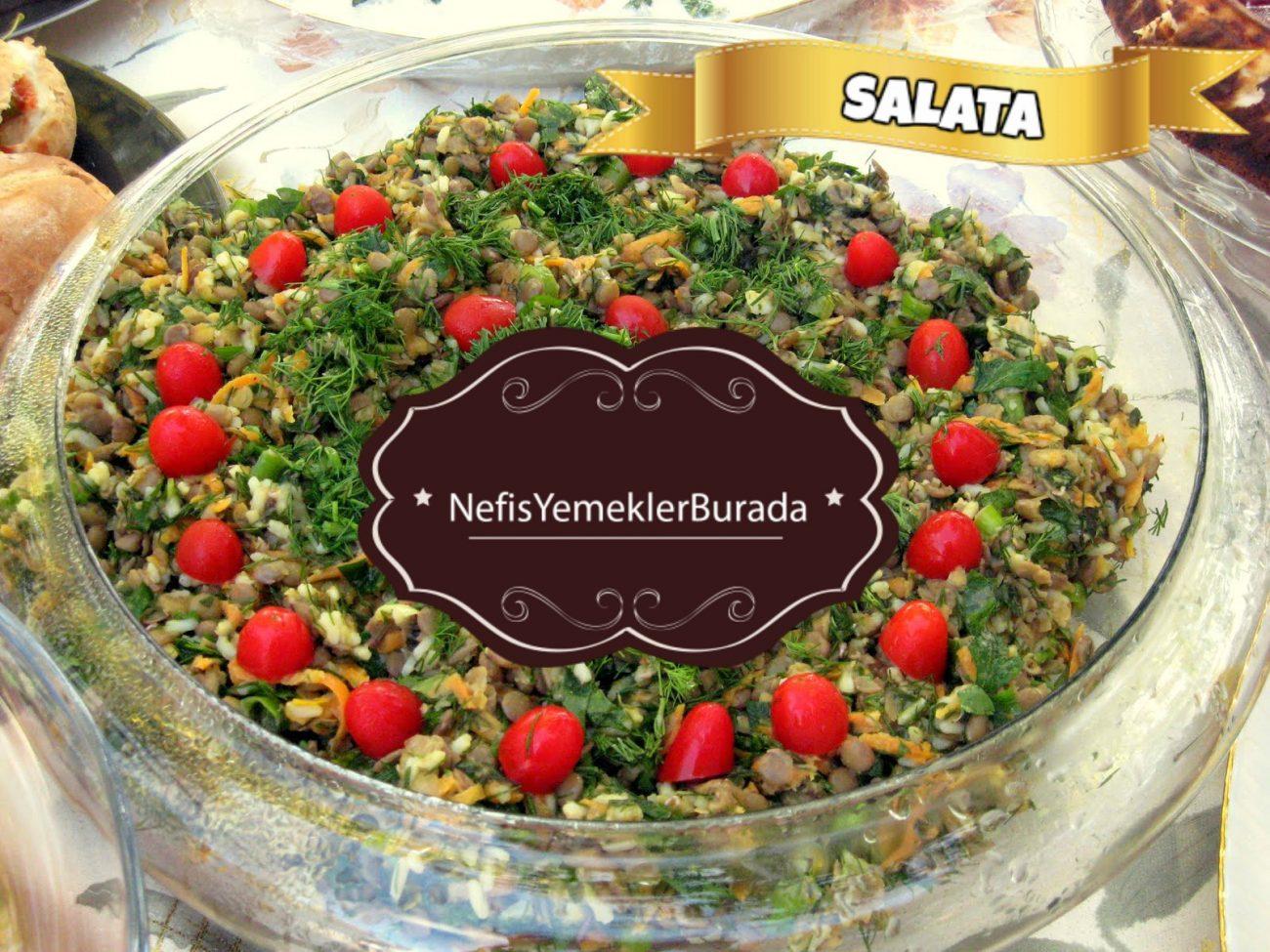 Kabuklu Ilık Mercimek Salatası Tarifi