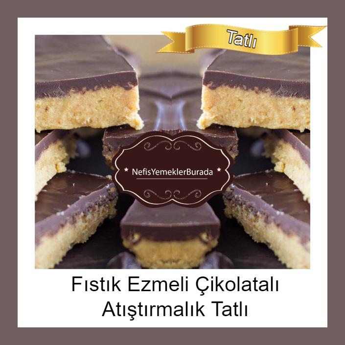 Fıstık Ezmeli Çikolatalı Atıştırmalık Tatlı Tarifi